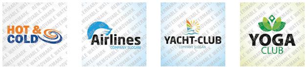 примеры логотипов со стоковых сайтов
